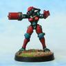 Female Cyborg. ERL Cyber Arm 28mm Unpainted Metal Wargames