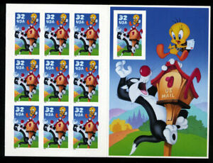 3204 TWEETY & SYLVESTER 32c MINT SUPERB-NH SHEET