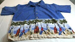 First Wave Class Club Mens Size 20 Hawaiian Surf Short Sleeve Button Up Shirt