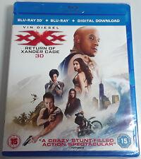 xXx: Return of Xander Cage Brand New 3D + 2D Blu-Ray 2017 Vin Diesel movie