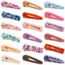 1PC Teardrop Rectangle Shiny Acrylic Hair Clip Geometric Hollow Hairpin Barrette