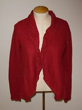 KNITTED & KNOTTED ANTHROPOLOGIE RED LONG SLEEVE WOOL BLEND CARDIGAN SWEATER S