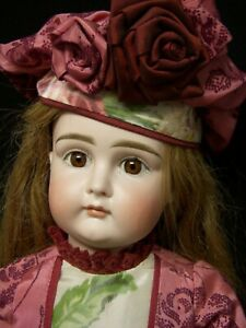 """22"""" Antiq German Closed Mouth Kestner Doll – Incised only """"14"""", Squared-Cheek"""