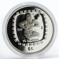 Mexico 5 pesos Statue El Luchador proof silver coin 1996