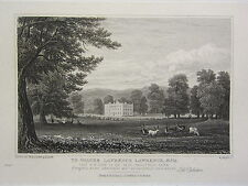 1826 ANTIQUE CHELTENHAM PRINT ~ SOUTH WEST VIEW SANDY WELL PARK