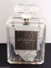 CHANEL NO. 5 PERFUME BOTTLE CLUTCH CLEAR ICONIC TIMELESS CLASSIC BAG NWT