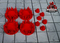 The Walking Dead: All Out War/Call to Arms 3D Printed Fire Tokens