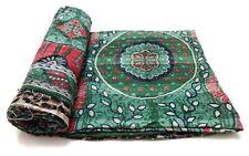 Vintage Kantha Quilt Decorative IndianCotton Bedspread Ethnic Bedding Ralli GF80