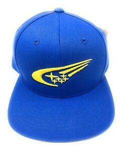 Subaru Motorsports Logo Rally Flat Visor Cap Hat Impreza STI WRX Racing Cotton