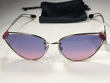 Nice! Bvlgari BV 6115 Pale Gold Sunglasses 278/I6 W/Purple Gradient Blue Lens