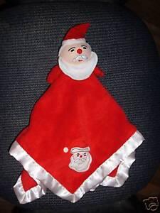 Blankets & Beyond Security Blanket CHRISTMAS SANTA red