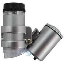 45X Microscope Magnifier Mini Jewelers Loup Ultra Violet Light LED Bulbs UV