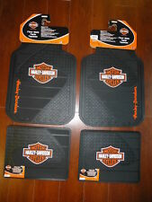 Harley-Davidson Factory Front and Rear Car Truck Rubber Floor Mats NEW