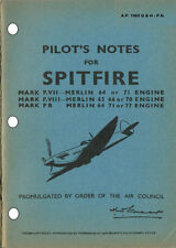 PILOT'S NOTES: SPITFIRE FVII/FVIII/PRX RECON (34 pps)+FREE 2-10 PAGE INFO PACK