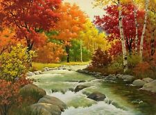 Hd Art Print Autumn Landscape Oil painting Printed on canvas 16X20 inch P094