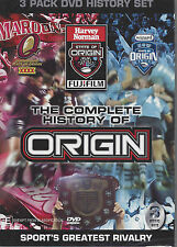 History Of State Of ORIGIN 1980-2007 (3 DVD Set) NSW vs QLD Triple Pack