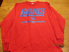 NEW YORK GIANTS NFL CRITICAL VICTORY MENS LONG SLEEVE SHIRT X-LARGE