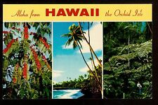 c1953 Nani Li'i multi view Aloha from the Orchid Isle Hawaii postcard