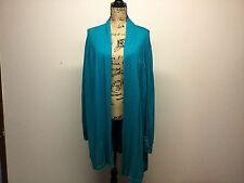 Lane Bryant Longsleeve  Aqua Teal Green Cover Plus Size 26/28 Stretchy