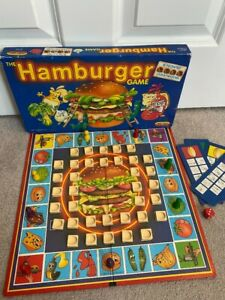 THE HAMBURGER BOARD GAME SPEARS GAMES 1989 Vintage Board Game #329