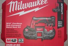 MILWAUKEE M12 2429-21xc Cordless Sub-Compact Band Saw Kit NEW 48-11-2402 NIB