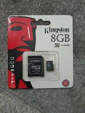 Genuine Kingston Micro SD 8GB SDHC SD Card Mobile Phone Class 4 With SD ADAPTER