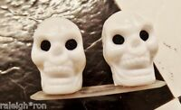 WHITE Muscle Bike Old School BMX Freestyle Bicycle Skull Valve Caps