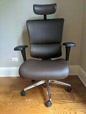 X Chair X4 Leather Executive Chair Brown Leather With Headrest Lightly Used