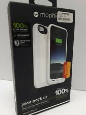 NEW FULLY CHARGED White Mophie Juice Pack Air 100% Battery Case 4 IPhone 6 6S