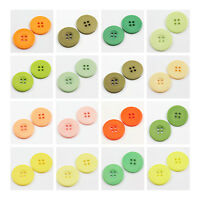ROUND COLOURED ACRYLIC BUTTONS 5 SIZES*33 COLOUR DRESSMAKING FABRIC HABERDASHERY