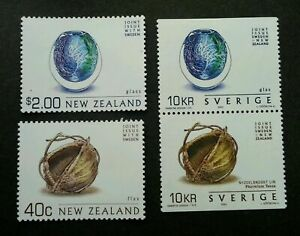 [SJ] Sweden - New Zealand Joint Issue Arts Meet Crafts 2002 (stamp pair) MNH