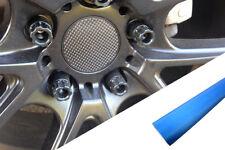 4x Jantes en Alliage Volant Couvercle Design Wrap Film Aluminium Bleu pour Viele