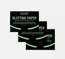 City Color Blotting Paper - Green Tea - 3 pack 50 Sheets each pack -New & Sealed
