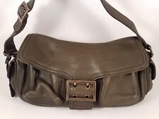 Banana Republic Pebbled Leather Small Hobo Hand or Shoulder Bag with Bronze Trim