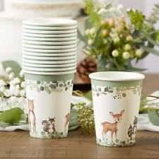16 Woodland Animals Cups for Baby Shower First Birthday Party MW37015