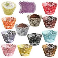 100 pcs Filigree Vintage Cupcake Wrappers Wraps Cases - Wedding, Birthday(I T7I4