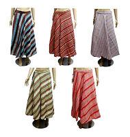 5pcs-100pcs Cotton Striped Gypsy Women's Long Wrap Around Skirts Wholesale Lot