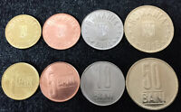 ROMANIA SET 4 COINS 5 10 25 50 BANI 2018 UNC