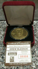 RARE HIGHLAND MINT BRONZE COIN OF DREW BLEDSOE #ed 6808 NEW ENGLAND PATRIOTS