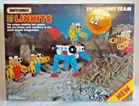 Matchbox Linkits Transport Team Boxed Set Extras 295 Pieces Vintage 1980s 1990s