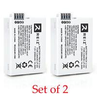 LP-E8 Battery for Canon Rebel T2i T3i T4i T5i Kiss X5 EOS 550D  2PK REIZGEAR