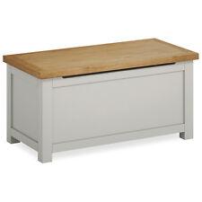 Farrow Grey Blanket Chest / Painted Blanket Box / Solid Wood Trunk / Oak Top