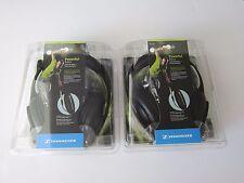 2X Sennheiser HD 202 II DJ Headband Over The Ear Headphones - Black 2 PCS New