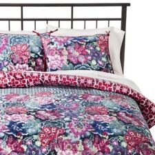 One Boho Boutique Leilani Pillow Sham Reversible Pink New Standard Bedding