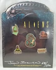 ALIENS PIN SET SIGNED BY JOHN BOLTON 1990 20TH CENTURY FOX SEALED 631/1500