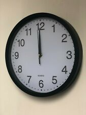 40cm Quartz Wall Clock Night Light Home Decor Round Number Time with Hook