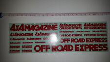 Rare!  From Japan, Genuine 4x4 Magazine Offroad Express decal sheet, 23cm x 7cm