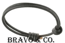 9B-180 Adjustable Slip Knot Genuine Leather New Armband Wristband Men Bracelet