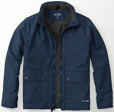 NWT Abercrombie & Fitch Mens Dark Blue Thermo Peak Jacket Coat ~ S
