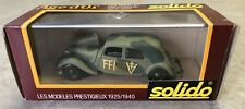 SOLIDO AGE d'Or 1/43 SCALE DIECAST VEHICLE - FFI  n32B MILITARY CAMO